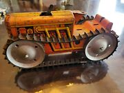 Marx Climbing Tractor Windup. Power Snap Caterpillar. 70 Years Old Antique Toy