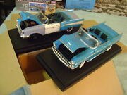 Ertl Set Of 2 Unrestored And Restored 1957 Chevy Bel Air 1/18 Diecast Cars 2500 Pc