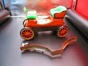 Vintage Cragstan Jalopy Shakin Tin Toy Battery Operated Car For Parts Only