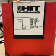Box Of 100----hit Beam Clip Rod Hanger, 122-521 For Flanges 1/8 To 1/4 New.