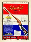 Metal Kitchen Signs 1936 Ad Daisy Air Rifle Toy Golden Eagle Metal Tin Sign