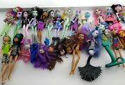 Huge Lot Monster High Class 20+ Dolls Plus Lots Of Accessories + Parts
