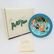 Disney Peter Pan We're Following The Leader 3d Plate Le 512/7500 Box And Coa