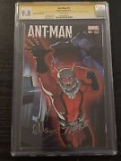 Ant-man 1 Cgc 9.8 Ss Signed Stan Lee And Ed Mcguinness Shrinking Variant Cover 2x