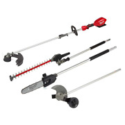 18v Lithium-ion Cordless Brushless String Grass Easy Load Trimmer Pole Saw Hedge
