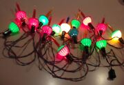 Vintage Long String Of Bubble Lights Including A Blue One-bakelite And Clips Cord
