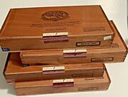 4 Padron 5000 Empty Wooden Cigar Boxes Hinged Wood Box Crafts/guitars 11.5x6x2