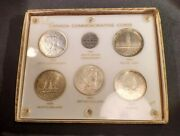 Commemorative Coins Of Canada Set In Capital Holder - 5 Silver Dollars