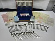 Lady Hilton By Westmorland Sterling Silver Flatware Set 50 Pieces Euc Stunning