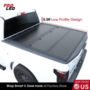 New 2007-2020 Tundra 5.5ft Short Bed Hard Tri-fold Tonneau Cover Low Profile