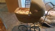 Antique Victorian Wicker Baby Buggy Pram Carriage