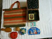 Antique Victorian 1907s 35 Pc Sewing Kit Case Darnneedle Book Hat Pinsnice