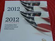 2012 Us Mint Annual Uncirculated Dollar Coin Set - W Burnished Silver Eagle Ogp