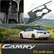 Carbon Fiber Look Inner Gear Shift Box Panel Cover Trim For Toyota Camry 2018-21