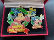 Disney Pin Ornament Wdi Happy Holidays Sorcerer Mickey Mouse Christmas 51646 Le