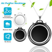 Portable Air Purifier Necklace Wearable Freshener Negative Ionizer Air Cleaner