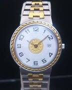 Hermes Serie 27mm Date 2 Hands Arabic Numerals Ss Andtimes Gp Watch White Dial
