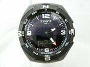Tissot T-touch Solar Watch T091420 Black Titanium Rubber 10 Bar Menand039s Womenand039s