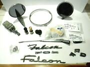 Vintage 1963 Ford Falcon Misc. Parts Lot, Mirrors, Emblems, Lighters And More.