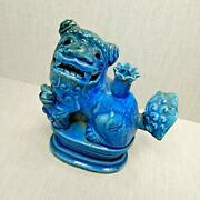 Antique Chinese Porcelain Turquoise Glazed Moon Figure 18th-19th Century.