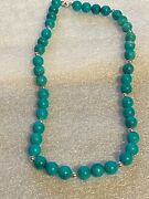 Native American Costume Bead Jewelry Turquoise 10 Necklace Vintage