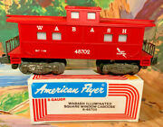 American Flyer Wabash Square Window Caboose ....mint In Box 59.95
