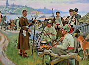 Louis Picard 1861 - 1940 - Cossack And Prussian Officers At Don
