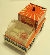 Vintage Very Rare Germanyddr Litho Tin Toy Fire Truck Filius 223