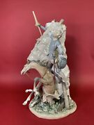 Lladro 1497 Don Quixote And Windmill Retired In 1996 A Large Piece 20 High