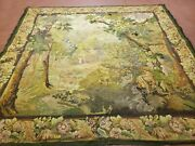 6' 5x 7' Antique Tapestry French Hand Made Aubusson Weave Nature One Of A Kind