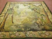 6and039 5x 7and039 Antique Tapestry French Hand Made Aubusson Weave Nature One Of A Kind