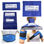 Reusable Hot Cold Gel Ice Pack Heat Therapy Wrap Back Pain Relief First Aid Kits