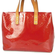 Auth Louis Vuitton M91088 Vernis Reade Pm Small Tote Hand Bag Red 18178bkac
