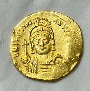 Ancient Byzantine Gold Coin Justinian I. 527-565 A.d. Solidus Gorgeous Coin