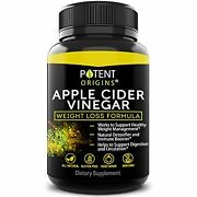 100 Natural Apple Cider Vinegar 90 Capsules Healthy Diet And Weight Loss Ex 10/21