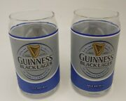 Guinness Black Lager Pint Can Glass16oz Lot Of 2