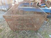 Folding Large Steel Wire Storage Basket Box Cages Used