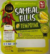 100 Authentic Fermented Durian Anchovy Chili Sauce - Sambal Bilis Tempoyak