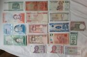 Lot Of 17 Banknotes From The World 15 In Excellent Condition And 2 Used Old Ban