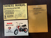 Genuine Nos 1970 Rupp Roadster Owners Manual And Operating Instructions Manual
