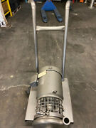 Flowtrend. Sanitary Pump Coupled With 7.5 Hp Sterling Motor - Including Cart