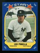 1981 Fleer Star Stickers Lou Piniella Blank Back Paper Test Issue Nyy Future Hof