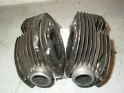 Set And Pair Of Dirty Bmw 1977 R60/7 Motorcycle Heads R60/6 R60/5 38 Inlet 34 Exst