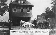 Mckees Rocks Pa Horse Drawn Fire Equipment In 1908 Real Photo Postcard