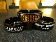 Stardust Hotel And Casino Glass Ashtray Binions Horseshow Silver Nugget City Spoon