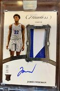 James Wiseman 1 Draft Pick Flawless Rpa 2 Color Patch 19/20 Roy Invest