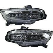 Headlights Lamps Set Of 2 Left-and-right 33150tbaa11, 33100tbaa11 Lh And Rh Pair