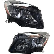 Pair Set Of 2 Headlights Lamps Left-and-right For Mercedes Lh And Rh Gla250 15-18