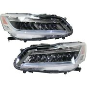 Pair Set Of 2 Headlights Lamps Left-and-right 33150t2aa42 33100t2aa42 Lh And Rh