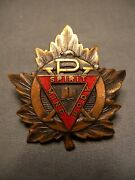 Young Menand039s Christian Association Wwii Cap Badge Ymca Y.m.c.a. Canada Canadian